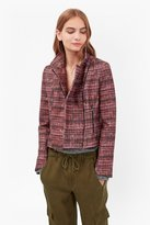 French Connection Felicity Tweed Print Biker Jacket