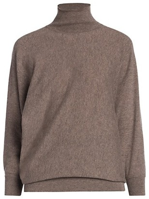Agnona Fine Cashmere-Blend Turtleneck Sweater