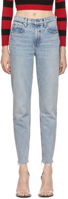 Alexander Wang Blue Cult Zip Jeans