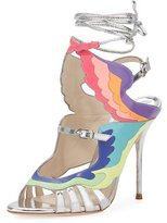 Sophia Webster Fire Bird Metallic Cutout Sandal, Multi