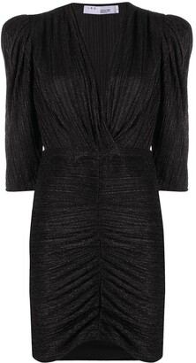 IRO Plisse-Effect Exaggerated-Shoulders Dress