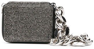 Kara Chain-Link Detail Crystal-Embellished Mini Bag