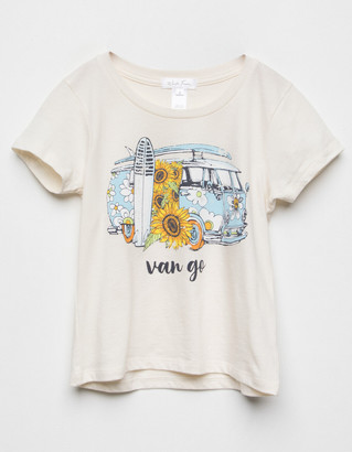 WHITE FAWN Van Go Bus Girls Tee