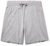 Handvaerk - Mélange Pima Cotton-jersey Pyjama Shorts - Gray