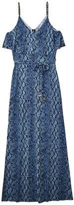 MICHAEL Michael Kors Saturated Snake Chain Maxi (Chambray) Women's Dress