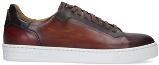 Magnanni Burnished Leather Tennis Sneakers