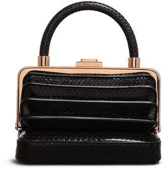 Gabriela Hearst 'Diana' accordion frame snakeskin leather bag