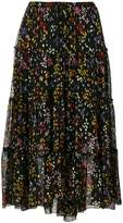 See by Chloe tiered floral midi skirt