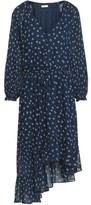 Joie Alithea Asymmetric Floral-print Silk Crepe De Chine Dress