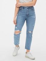 Gap High Rise Destructed Cigarette Jeans with Secret Smoothing Pockets