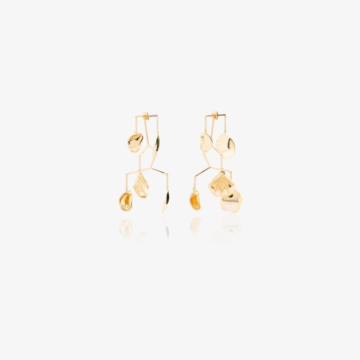 Anissa Kermiche Gold-plated Kinetic Mobile Earrings