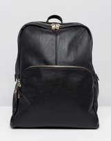 Oasis Faux Leather Zip Backpack
