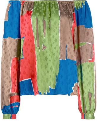 Tory Burch Silk Colour Blocked Blouse