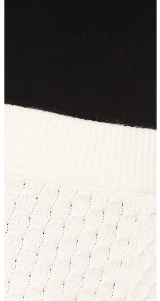 Torn By Ronny Kobo Cable Knit Anabella Skirt