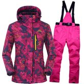 Tongzemeng Outdoor Ski Suit Lovers Warm Thick Waterproof Snow Jackets And Pants XXL
