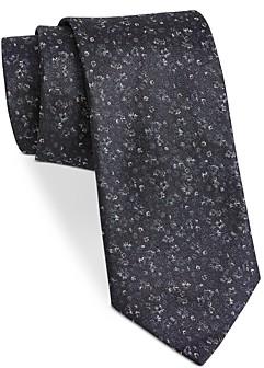 John Varvatos Filmore Multi-Flower Silk Classic Tie