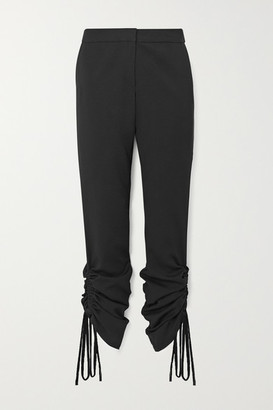 LADO BOKUCHAVA Ruched Twill Skinny Pants