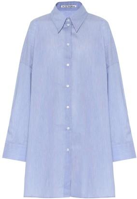 Acne Studios Oversized cotton-blend shirt
