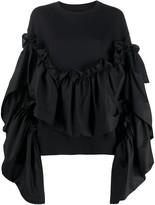 MM6 MAISON MARGIELA ruffled detail sweatshirt
