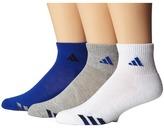 adidas Kids Cushion 3-Pack Quarter (Little Kid/Big Kid/Adult)