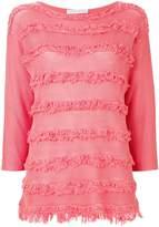 Fabiana Filippi frayed stripe sweater