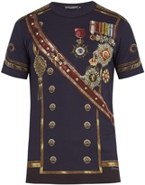 Dolce & Gabbana Military-uniform print cotton T-shirt