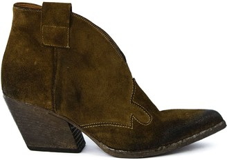 Elena Iachi Texan Suede Ankle Boots