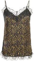 Just Female leopard print lace trim camisole