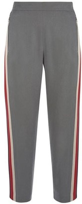 Mint Velvet Khaki Side Striped Sports Pant