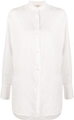 Barena Mandarin collar linen shirt