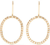 Ileana Makri Mini Again 18-karat Gold Diamond Earrings - one size