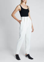 Proenza Schouler Stretch Suiting Draped-Front Pants