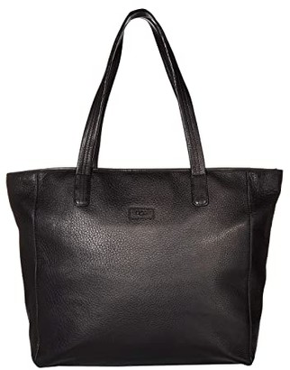 UGG Alina East/West Leather Tote (Black) Tote Handbags