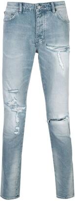 Ksubi Slim-Fit Distressed Jeans