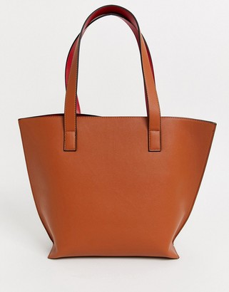 Truffle Collection tan large tote bag