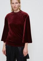 Toga Dark Red Velour Bell Sleeve T-shirt