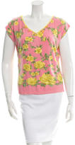 Blumarine Floral Pattern Knit Top