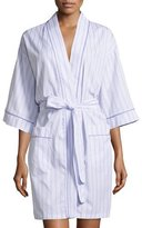 BedHead Striped Kimono Short Robe, Lavender