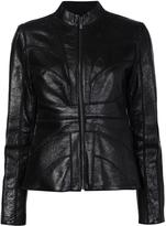 Zac Posen 'Veronica' jacket - women - Polyester/Spandex/Elastane/Lamb Nubuck Leather - XS