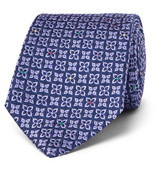 Turnbull & Asser 8cm Silk-jacquard Tie - Midnight blue
