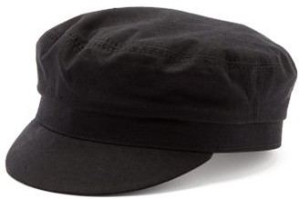 Isabel Marant Evie Cotton Baker Boy Hat - Black
