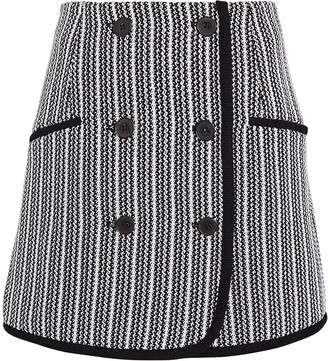 Derek Lam 10 Crosby Striped Tweed Skirt
