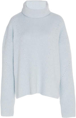 Sally LaPointe Cashmere-Blend Turtleneck Sweater