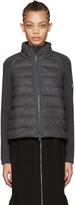 Moncler Grey Down Panel Jacket
