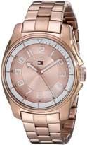 Tommy Hilfiger Women's Sport Bracelet White Bezel Watch 1781230
