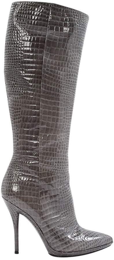 Giuseppe Zanotti Grey Leather Boots