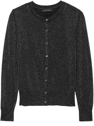 Banana Republic Washable Merino Metallic Cardigan Sweater