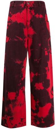 McQ Maru high-rise wide leg jeans