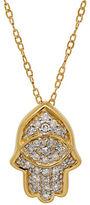 Lord & Taylor Diamond and 14K Yellow Gold Hamsa Pendant Necklace