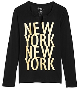 Flowers by Zoe Girls' New York Long Sleeve Tee - Little Kid